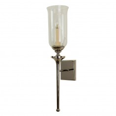Nickel Tulip Bathroom Wall Light IP44