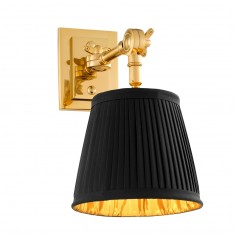 Wall Lamp Wentworth Single with Black Shade