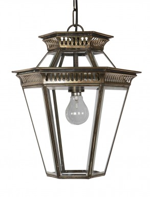 Clarence Hanging Lantern in Nickel