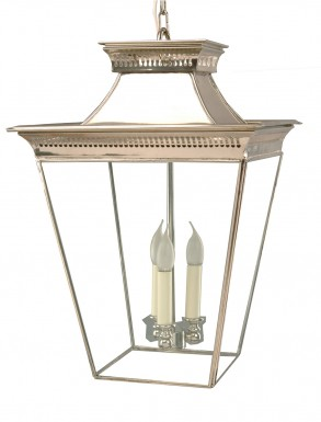 Large Pittville Hanging Lantern Nickel