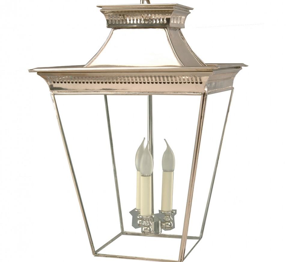 Large Pittville Hanging Lantern Nickel