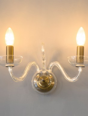 Beaudesert glass wall light