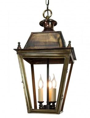 Battletown Hanging Lantern Distressed Antique Brass