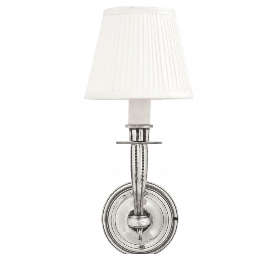 Wall Lamp Parisienne Single Antique Silver Eichholtz