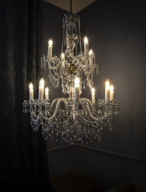 Georgian Chandelier Belgravia 2 tiers, Large