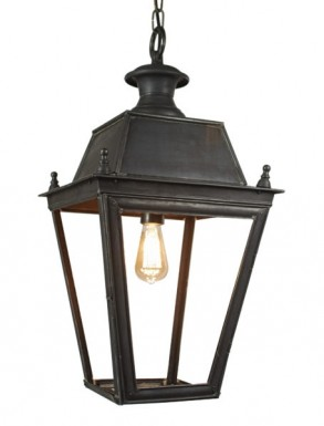 Battledown Hanging Outdoor Lantern Medium 1 bulb Dark Antique Brass