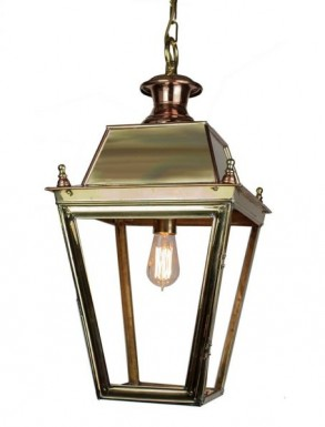 Battledown Hanging Outdoor Lantern Medium 1 bulb Dark Antique Brass