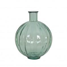Ribbed Glass Vase Light Green
