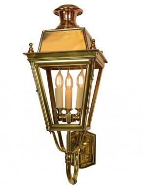Battledown Wall Lantern Medium (Bottom Wall Mounted) 3 Lights Dark Antique Brass