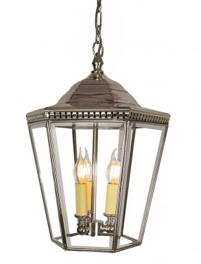 Collins Hanging Lantern 3 Lights Nickel