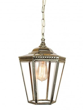 Collins Hanging Lantern Small Nickel
