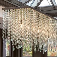 Oxford Rectangular Crystal Chandelier