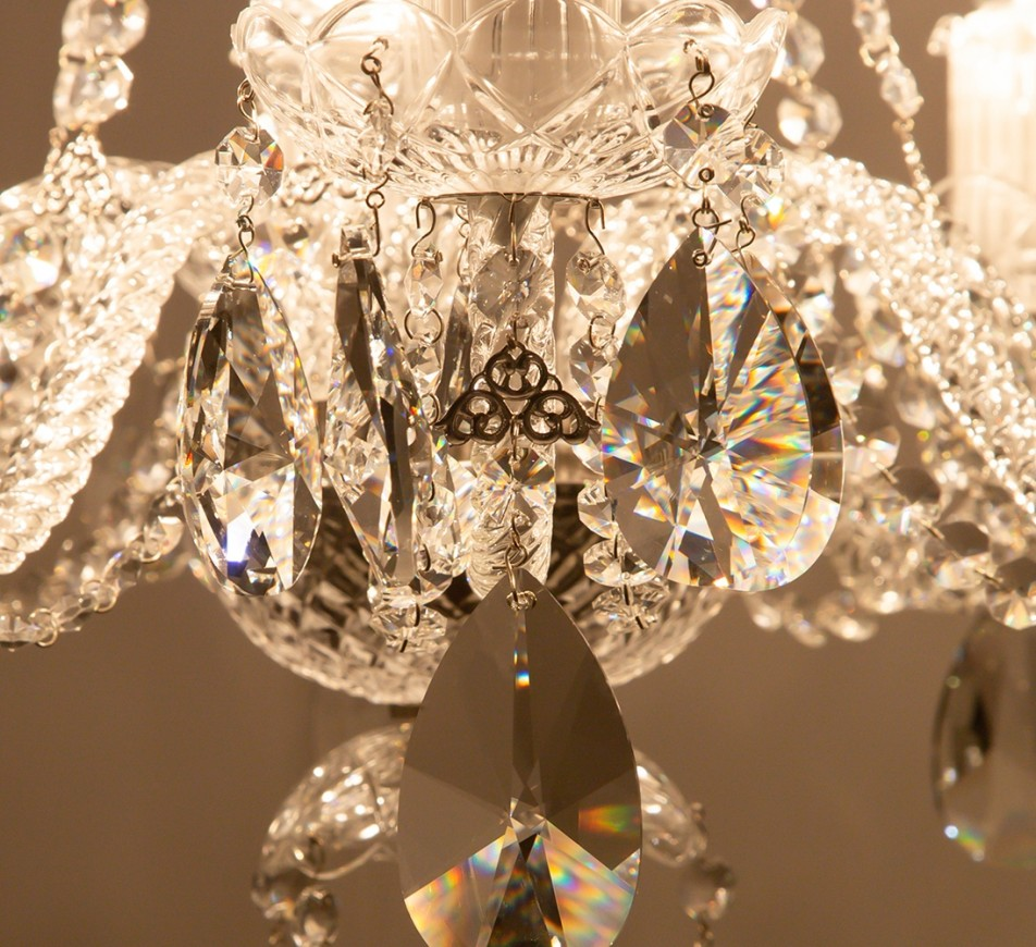 Charlton Crystal Chandelier; 8 arms