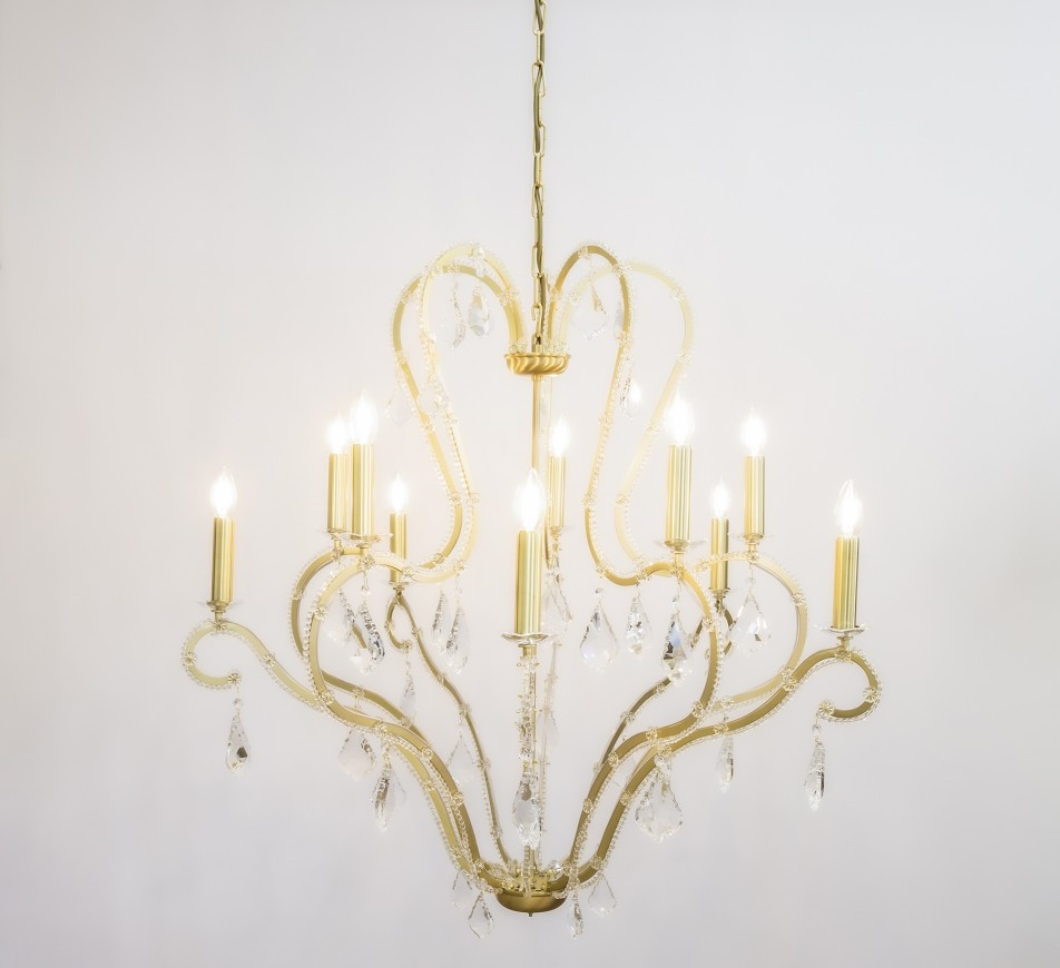 Buford Large Crystal Chandelier