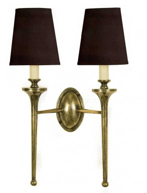 Granham Twin Wall Sconce with Shades
