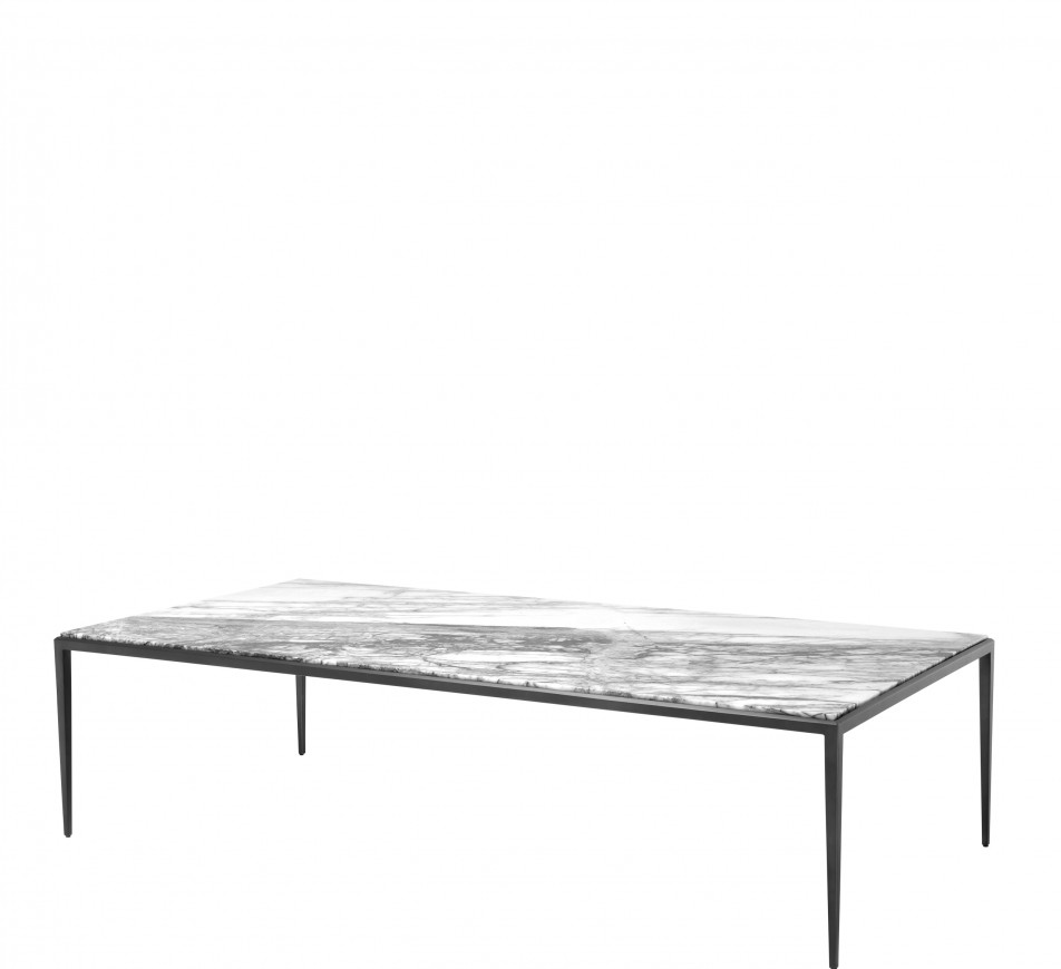 coffee table with a bianco marble top